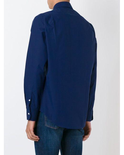Рубашка С Логотипом Polo Ralph Lauren                                                                                                              синий цвет
