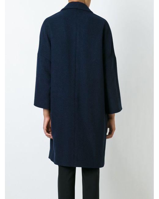 Свободное Пальто Brunello Cucinelli                                                                                                              синий цвет