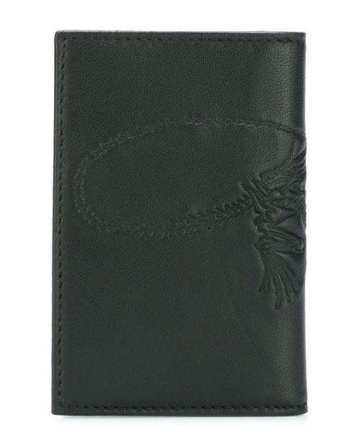 Бумажник С Принтом Скелета Ящерицы Alexander McQueen                                                                                                              чёрный цвет