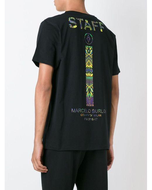 Футболка Mercedario MARCELO BURLON COUNTY OF MILAN                                                                                                              чёрный цвет