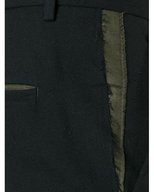Укороченные Брюки С Рваной Отделкой MSGM                                                                                                              чёрный цвет