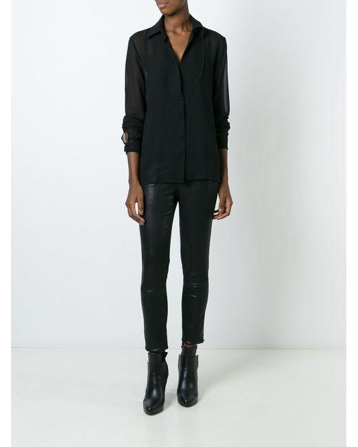 Полупрозрачная Блузка NOSTRASANTISSIMA                                                                                                              чёрный цвет