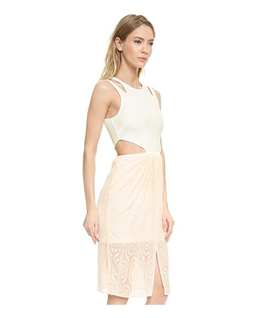 Платье Janine Из Прожженного Материала Ronny Kobo                                                                                                              None цвет