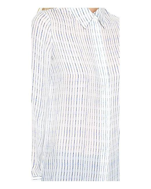 Льняная Рубашка На Пуговицах С Размытым Рисунком Vince                                                                                                              None цвет