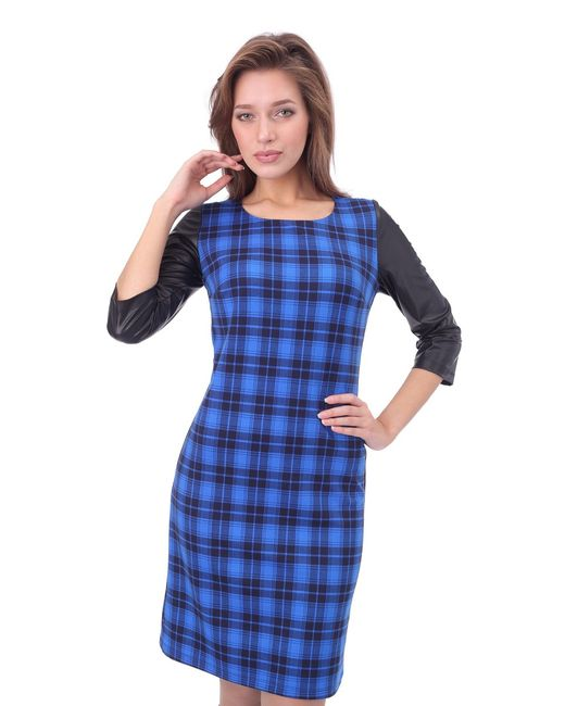 Платье Quotклеткаquot Gia-Marie                                                                                                              None цвет