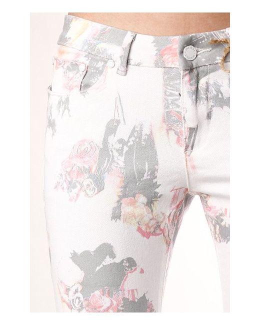 Джинсы Узкие Женские Beanpole Skinny Stretch Art Insight                                                                                                              розовый цвет