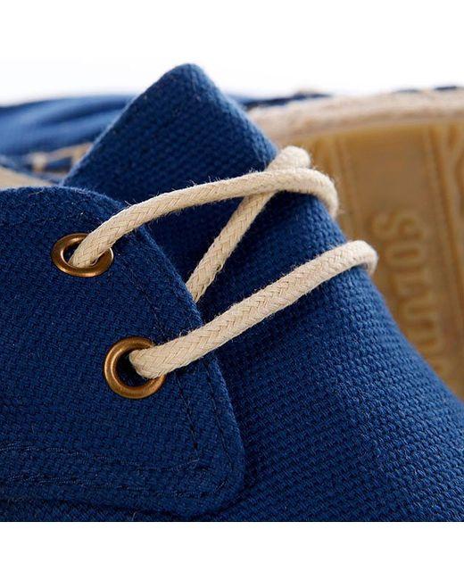 Эспадрильи Женские Canvas Derby Lace Up Navy Soludos                                                                                                              синий цвет