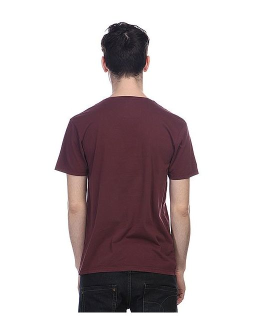 Футболка Garment Dyed E4 Tees Sassafras Quiksilver                                                                                                              красный цвет