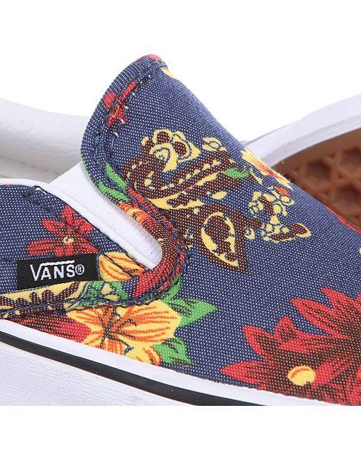 Слипоны Classic Slip On Dress Blue Vans                                                                                                              синий цвет