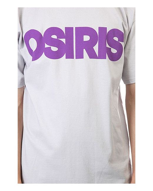 Футболка Mens Tees Nyc Silver/Purple Osiris                                                                                                              серый цвет