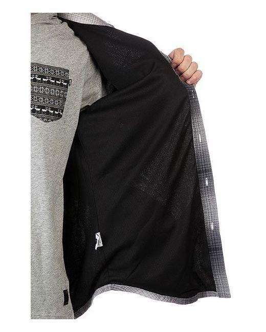 Рубашка Утепленная Alameda Quilted Premium Flannel Black Huf                                                                                                              серый цвет