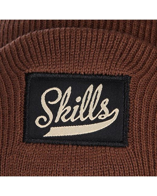 Шапка New Script Patch Beanie Dark Brown Skills                                                                                                              коричневый цвет