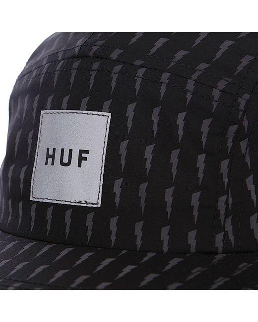 Бейсболка Пятипанелька Thunder Bolt Box Volley Black/Grey Huf                                                                                                              чёрный цвет
