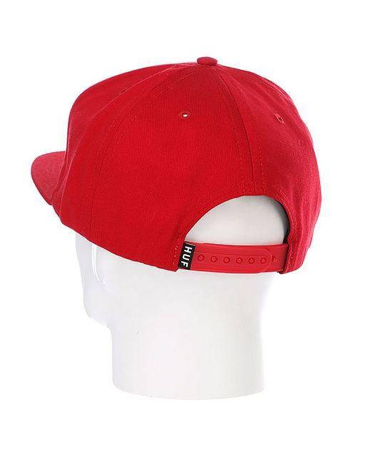 Бейсболка Space Camp Snapback Red Huf                                                                                                              красный цвет