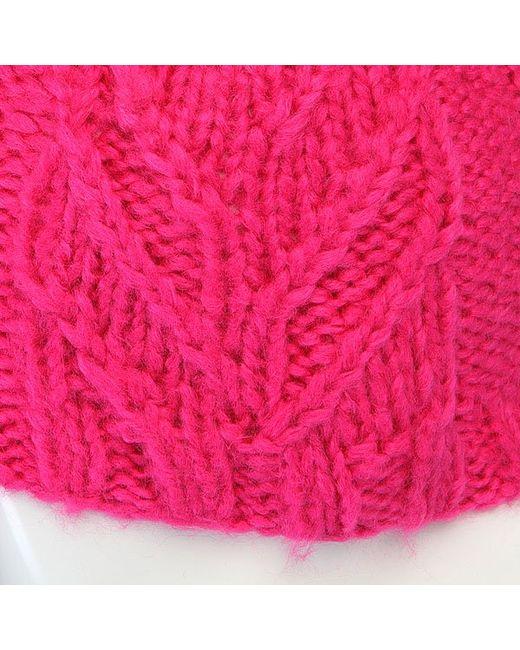 Шапка С Помпоном Женская Leaf Beanie Pink Volcom                                                                                                              розовый цвет