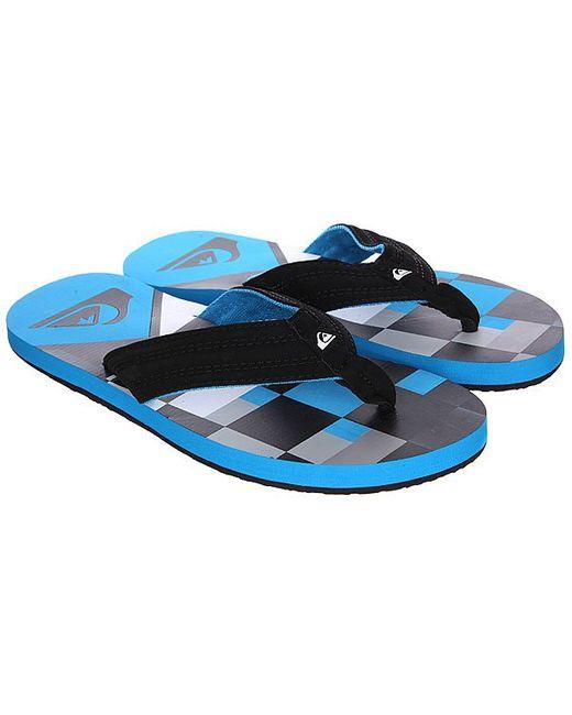 Шлепанцы Basis Blue/Black/White Quiksilver                                                                                                              синий цвет