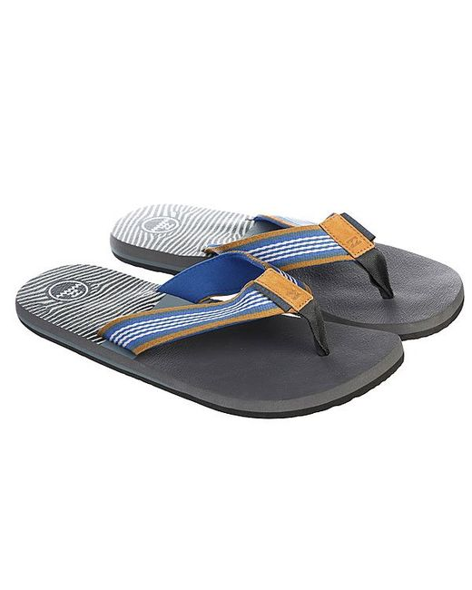 Шлепанцы Off Road Sandals Slate Billabong                                                                                                              синий цвет