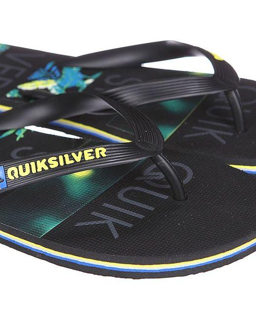 Шлепанцы Molokai Art Black/Grey/Green Quiksilver                                                                                                              голубой цвет