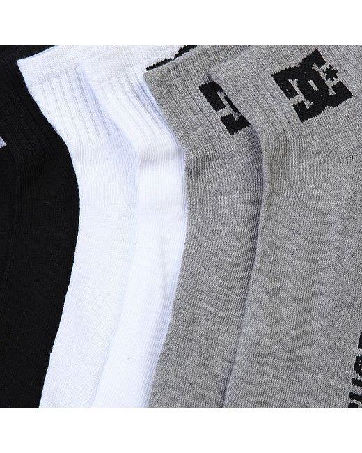 Носки Средние Dc 3pk Basic Logo Multi Dcshoes                                                                                                              чёрный цвет