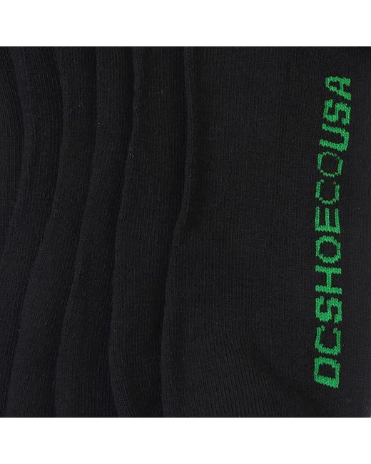 Носки Высокие Dc 3pk Rasta Black/Mixed Logo Dcshoes                                                                                                              чёрный цвет