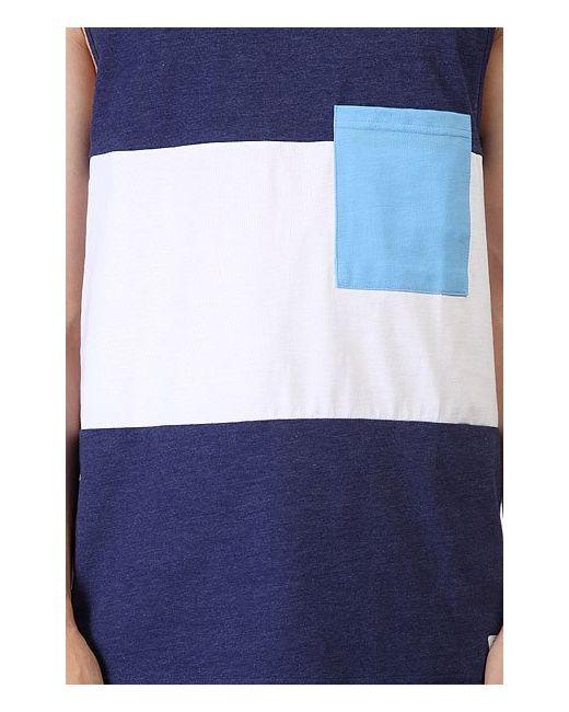 Майка Pouch Tank Patriot Melange Clwr                                                                                                              синий цвет