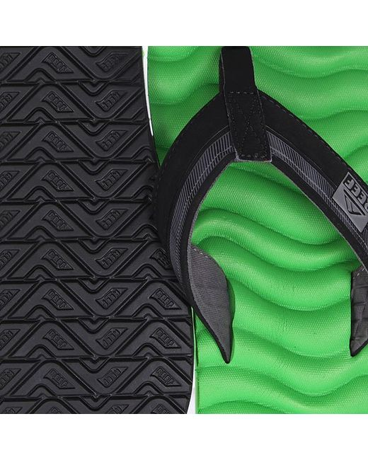 Вьетнамки Swellular Green/Black Reef                                                                                                              чёрный цвет