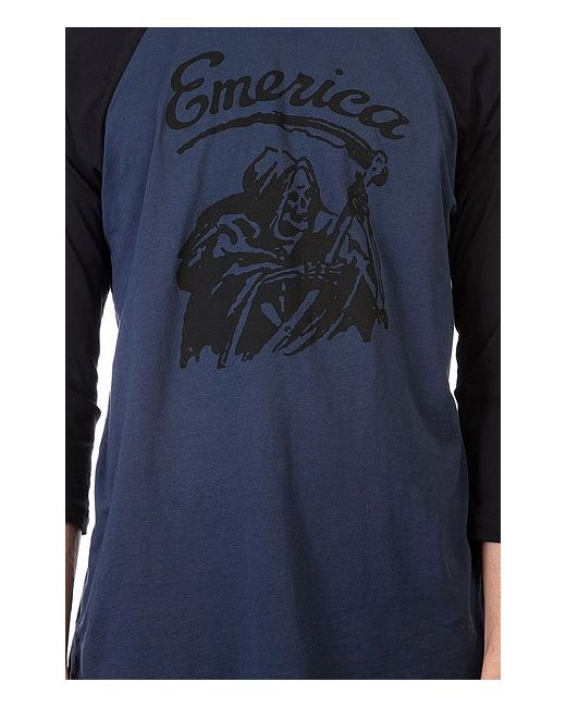 Лонгслив Reaper Raglan Black/Navy Emerica                                                                                                              синий цвет