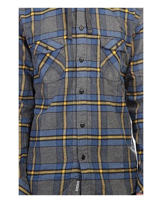 Рубашка В Клетку Rockyfist Federal Blue Quiksilver                                                                                                              голубой цвет