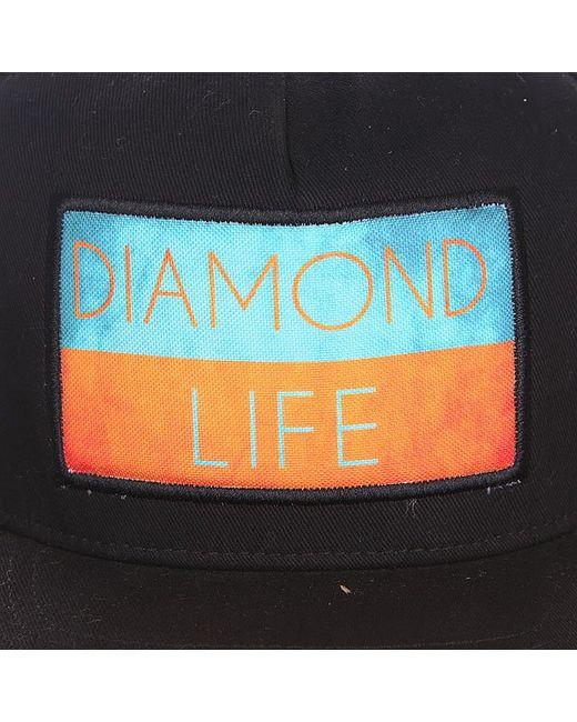 Бейсболка С Прямым Козырьком Life Flag Black Diamond                                                                                                              чёрный цвет