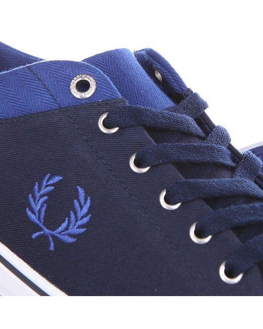 Кеды Кроссовки Низкие Hallam Twill Navy Fred Perry                                                                                                              синий цвет