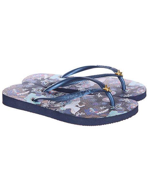 Вьетнамки Женские Fl Slim Orient Havaianas                                                                                                              синий цвет