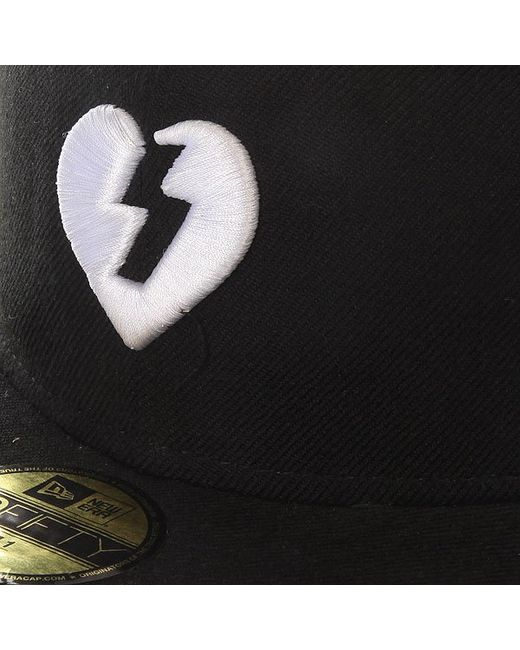 Бейсболка С Прямым Козырьком Heart Black/White Mystery                                                                                                              чёрный цвет