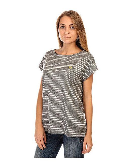 Футболка Женская Yarn Dyed T Shirt Black Fred Perry                                                                                                              серый цвет