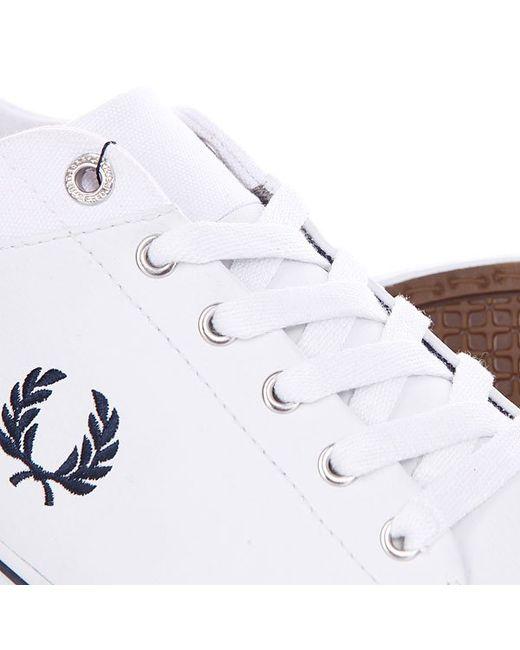 Кеды Кроссовки Низкие Hallam Leather White Fred Perry                                                                                                              белый цвет