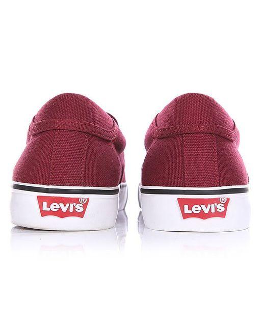Слипоны Levis Justin Slip On Bordeaux Levi's®                                                                                                              красный цвет