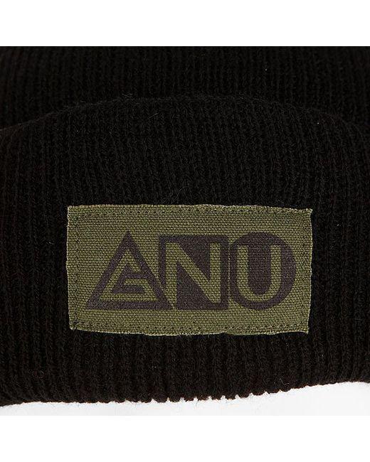 Шапка Ash Pocket Beanie Black Gnu                                                                                                              чёрный цвет