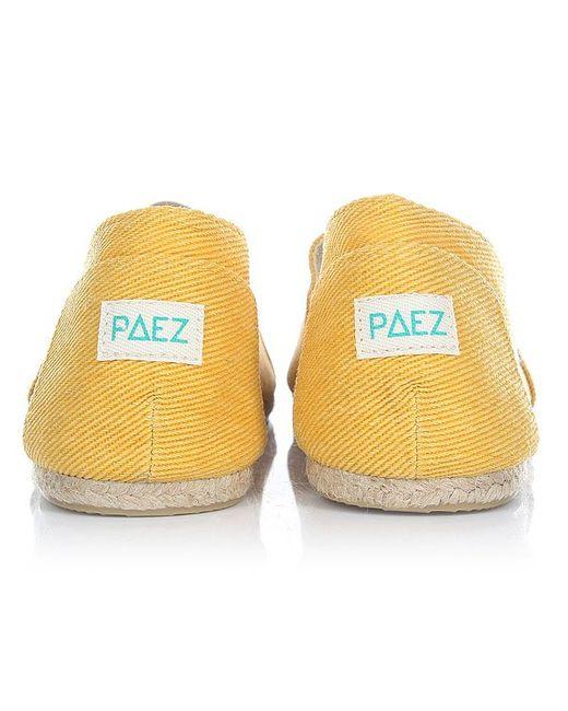 Эспадрильи Classic Raw Essentials Yellow-0047 Paez                                                                                                              None цвет