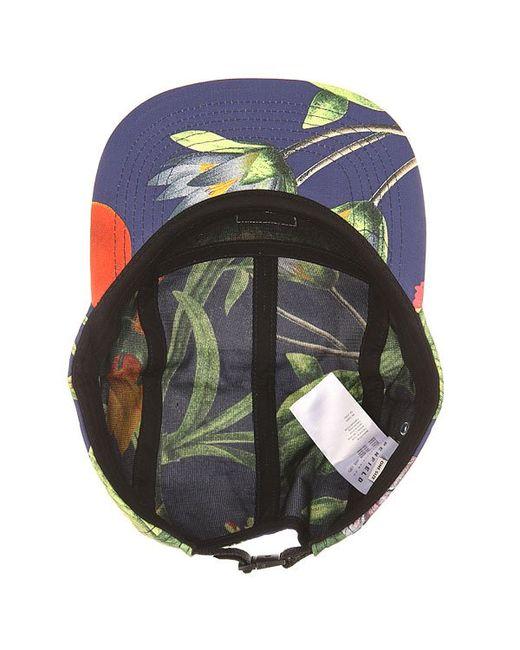 Бейсболка Пятипанелька Casper Botanical Cap Navy Penfield                                                                                                              чёрный цвет