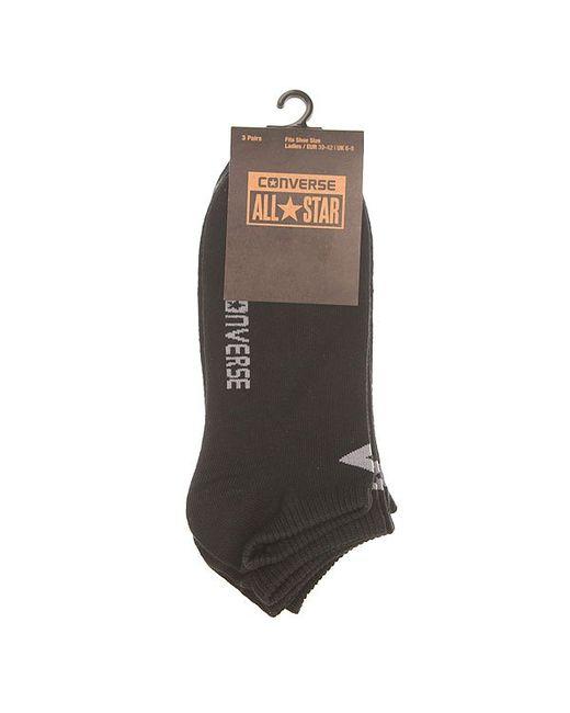 Носки Низкие Женские Socks Black Converse                                                                                                              чёрный цвет