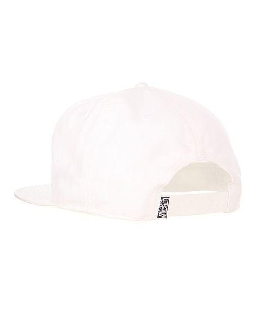 Бейсболка С Прямым Козырьком Snapback Arched Cap Converse                                                                                                              белый цвет
