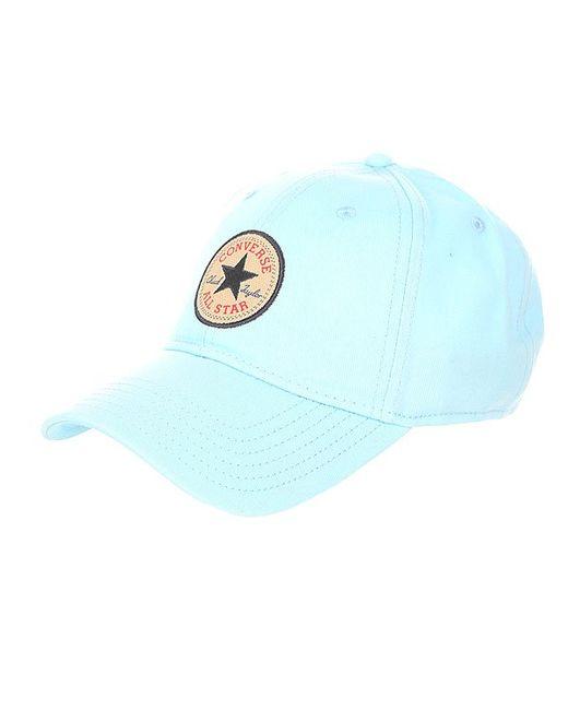 Бейсболка Классическая Twill Baseball Cap Motel Pool Converse                                                                                                              голубой цвет