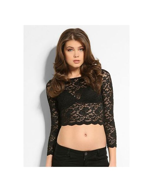 Блуза Lola Lace Crop Guess                                                                                                              None цвет