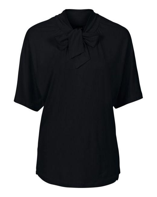 Футболка С Лентами Для Завязывания У Выреза bonprix                                                                                                              чёрный цвет
