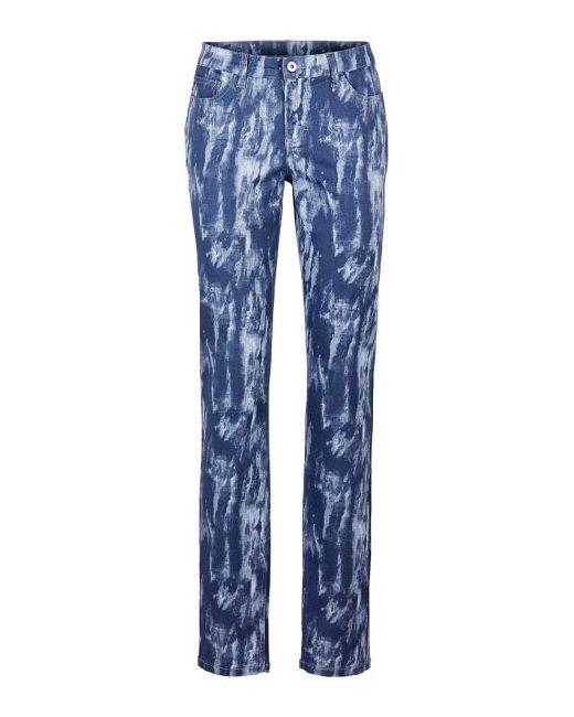Мода Больших Размеров Брюки С Принтом bonprix                                                                                                              синий цвет