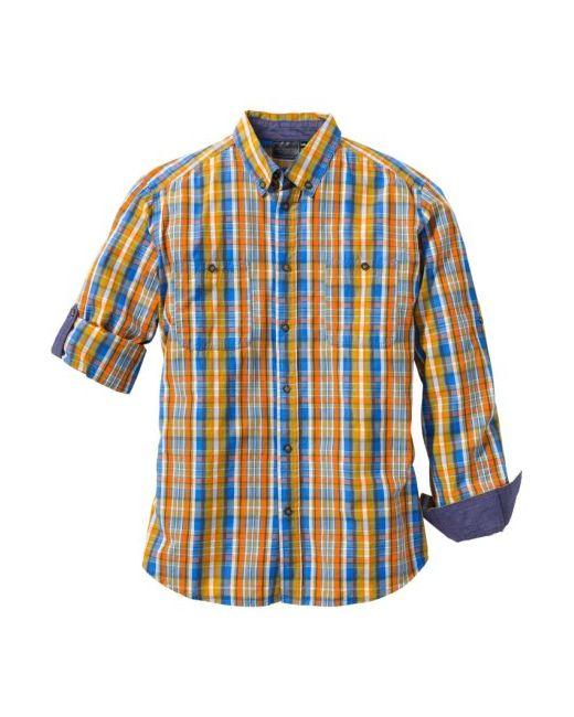 Клетчая Рубашка Regular Fit С Длинным Рукавом bonprix                                                                                                              хаки цвет