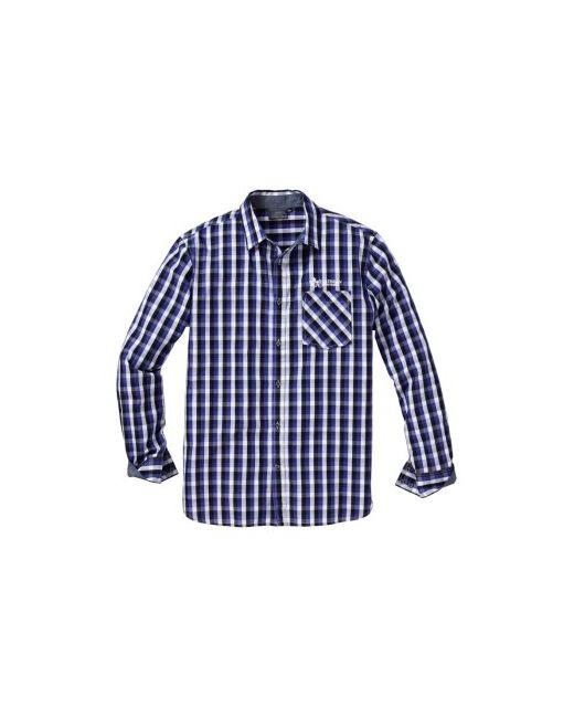 Клетчатая Рубашка Regular Fit bonprix                                                                                                              синий цвет