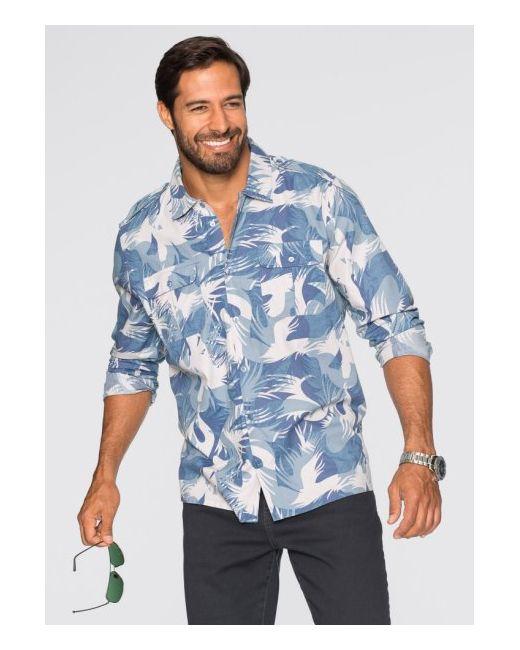 Рубашка Regular Fit С Длинным Рукавом bonprix                                                                                                              хаки цвет