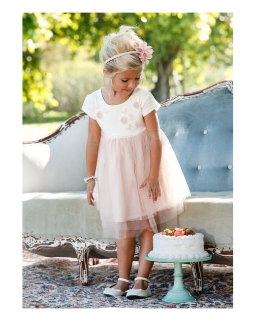 Платье Из Тюля Размеры 80-134 bonprix                                                                                                              розовый цвет