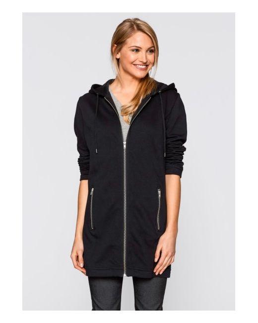 Удлиненная Трикотажная Куртка bonprix                                                                                                              чёрный цвет