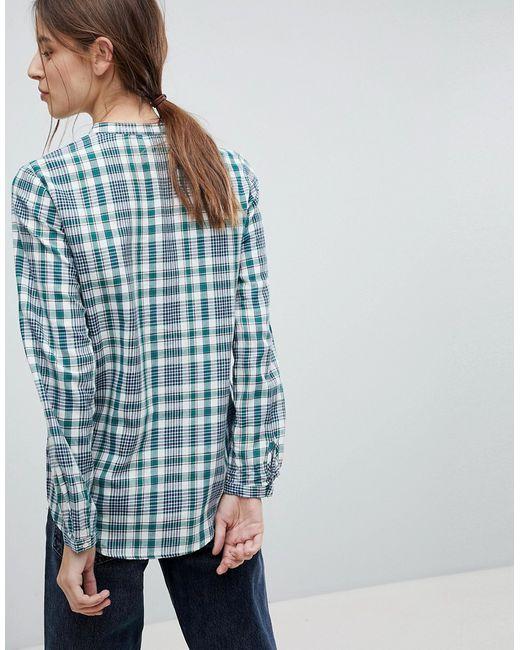 d93f942ba40 Женская Зелёная Блузка В Клеточку Esprit 7000115